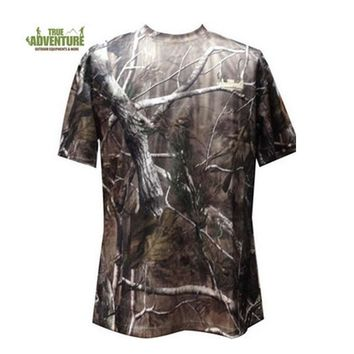 Clearance sale specials! Camouflage Men's short Sleeve T Shirt Summer Polyester Men Camo T Shirt for hunting clothing suits 2018