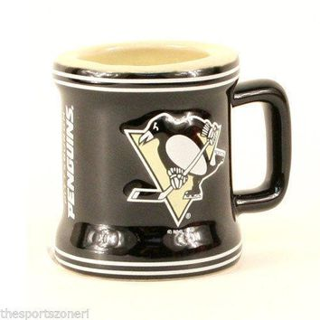 Pittsburgh Penguins 2 oz. Ceramic Mini Mug Shot Glass