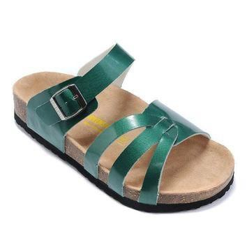 Birkenstock Women Fashion Buckle Sandals Slipper Shoes-3