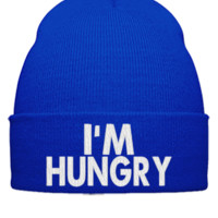 IM HUNGRY embroidery - Beanie Cuffed Knit Cap