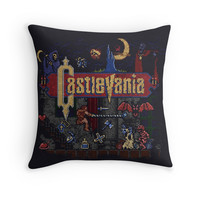 'Vania Castle' Throw Pillow by likelikes