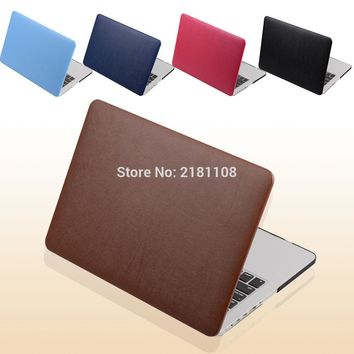 PU Leather Coated Protect Sleeve Laptop Case Cover  For MacbooK Air 13 11 Pro 13 Retina 12 15  A1398 A1278 A1502 A1286