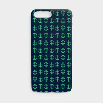 Anchor Toss Cell Phone Case iPhone 7 / 8 - Green on Navy