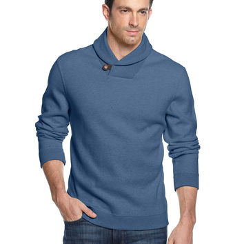 Tasso Elba Sweater, Shawl Collar Pullover
