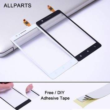 Free 3M Adhesive Tested 5.0 inch Black White Touch screen For LENOVO A536 Touch Screen Glass Panel Digitizer Replacement Parts