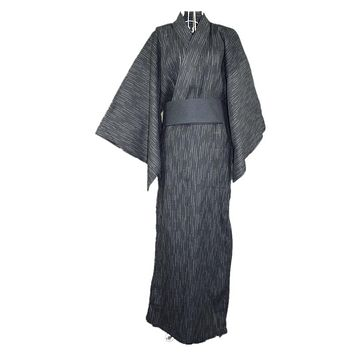 2017 New Arrival Men 100% cotton Bathrobe Male Traditional Japanese Kimono male hotel travel nightgown Men's Bath Robe 122601