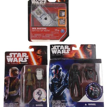 Star Wars The Force Awakens Resistance Trooper Tie Fighter Battle of Hoth Lot 3
