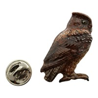Screech Owl Pin ~ Hand Painted ~ Lapel Pin