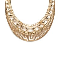 Tribal Cut-Out Plated Choker