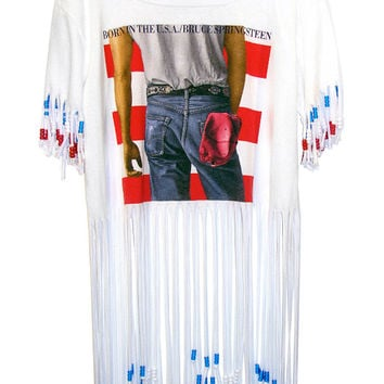 Bruce Springsteen Born In The U.S.A. Loose Fit Beaded Fringe Top