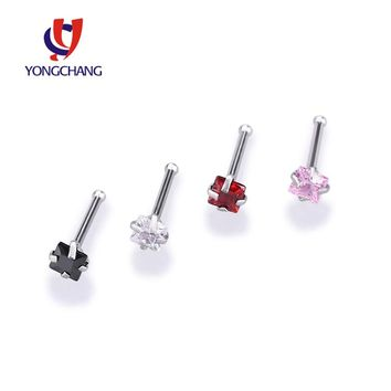 4PCS/PACK Square zircon nose lip stud ring crystal small mini earrings body piercing jewelry free shipping
