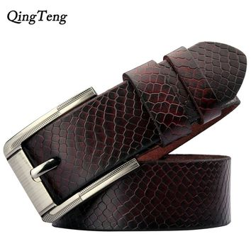 new waist belts for men brand Famous designer genuine leather fashion mens hip belts luxury Male pants strap free Punch cinto