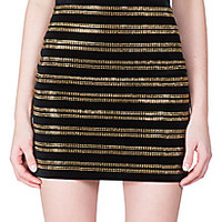 Balmain - Embellished Horizontal Stripe Skirt - Saks Fifth Avenue Mobile