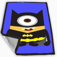 Batman me minion Blanket for Kids Blanket, Fleece Blanket Cute and Awesome Blanket for your bedding, Blanket fleece **