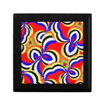 Fun Bright Funky Abstract Colorful Pattern Gift Boxes
