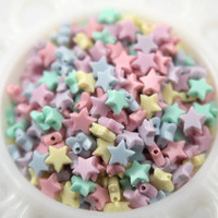 10mm Tiny Plastic Pastel Star Beads  200 pc set by delishbeads