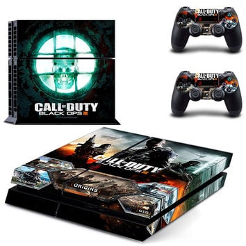Call of duty black ops 3 design skin for ps4 decal sticker console & controllers