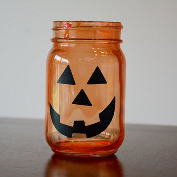 Halloween Decor, Fall Decor, Fall Mason Jar, Jack O Lantern, Halloween Mason Jar, Pumpkin Mason Jar, Pumpkin Decor, Jack O Lantern Jar
