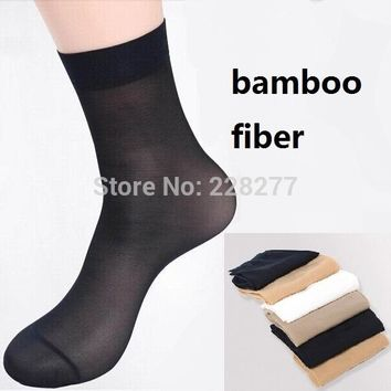 Size EU35-40 20 pairs/lot women's bamboo fiber nylon Socks Extra thickness extra elastic about 10g/pair hot sale ladies silk sox