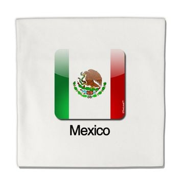"Mexican Flag App Icon - Text Micro Fleece 14""x14"" Pillow Sham by TooLoud"