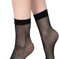 Courtney Fishnet Socks [B]