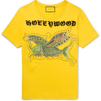 Gucci - Embellished Printed Cotton-Jersey T-Shirt