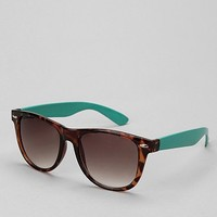 Oversized Colorblock Wayfarer Sunglasses
