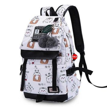 University College Backpack FengDong 2018 Emoji Printed Women Travel  Waterproof  Schoolbag  Female Teenager Girls Mochila BagpackAT_63_4