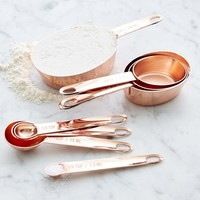 Williams Sonoma Copper Nesting Measuring Cups & Spoons