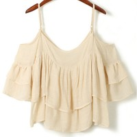 Superb Pleated Linen Cami - OASAP.com