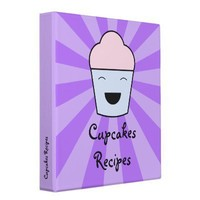 Cupcakes Recipes Binder from Zazzle.com