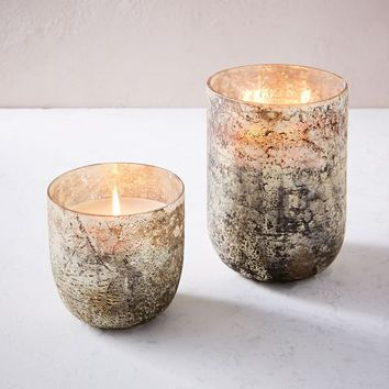 Antiqued Mercury Glass Scented Candles