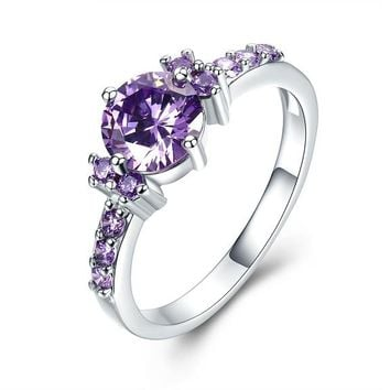 Beautiful Crystal Engagement Wedding Ring For Women