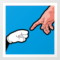 Pop Icon - Empowerment Art Print by Greg-guillemin
