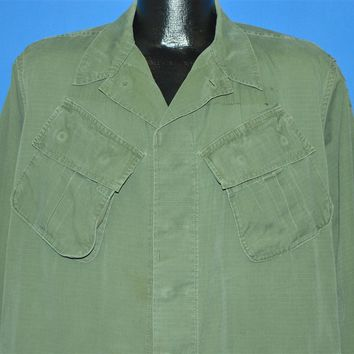 60s Vietnam War US Army Poplin Shirt Jacket Medium