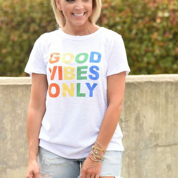 Good Vibes Only Tee - White