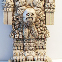 Coatlicue Aztec Mother of the Gods Statue Skirt of Snakes Teteoinnan Home Decor