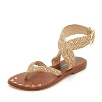 Woven Ankle Band Sandals