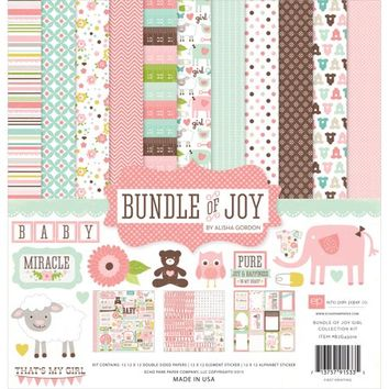 Echo Park Paper Bundle Of Joy Girl Collection Kit - Walmart.com