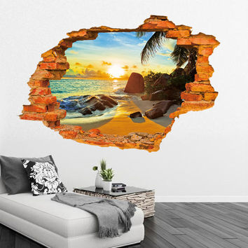 3D Sunset On The Beach Wallpaper: SAVE $2 TODAY!!
