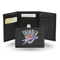 Oklahoma City Thunder  Embroidered Trifold Wallet