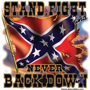 Stand Fight and Never Back Down - Square Sticker