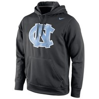 North Carolina Tar Heels Nike Warp Logo Therma-FIT Hoodie - Blue