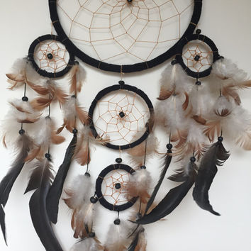 Large Black Vintage Dream Catcher