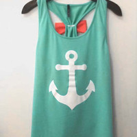 Anchor Bow Tank - Mint