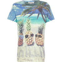 River Island Boys white pineapple chilling print t-shirt