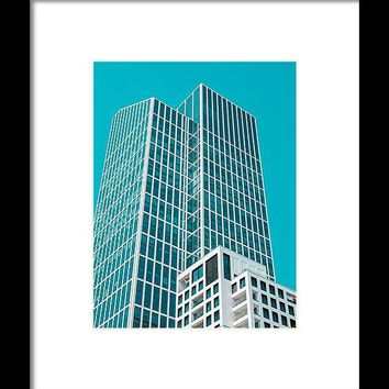 Urban Architecture - Frankfurt, Germany - Framed Print