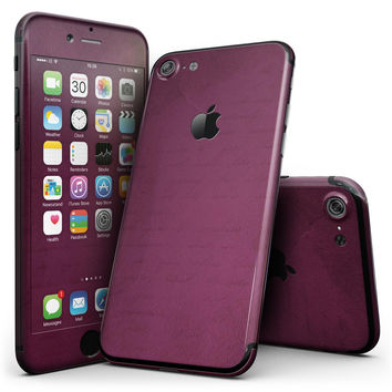 Shades of Burgundy Over Vintage Script - 4-Piece Skin Kit for the iPhone 7 or 7 Plus