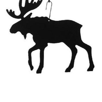 Wrought Iron Moose Decoration Hanging Silhouette