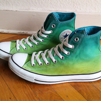 New dip dye ombre Converse , all stars, chucks, one of a kind, uk 9 (eu 42.5, us wo 11, us mens 9)